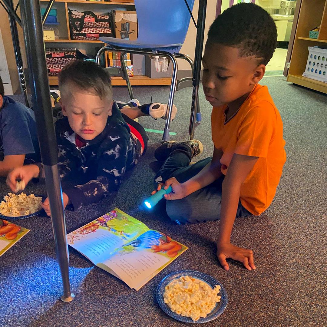 """Flashlight Reading Friday"" Rewards Student Behavior"