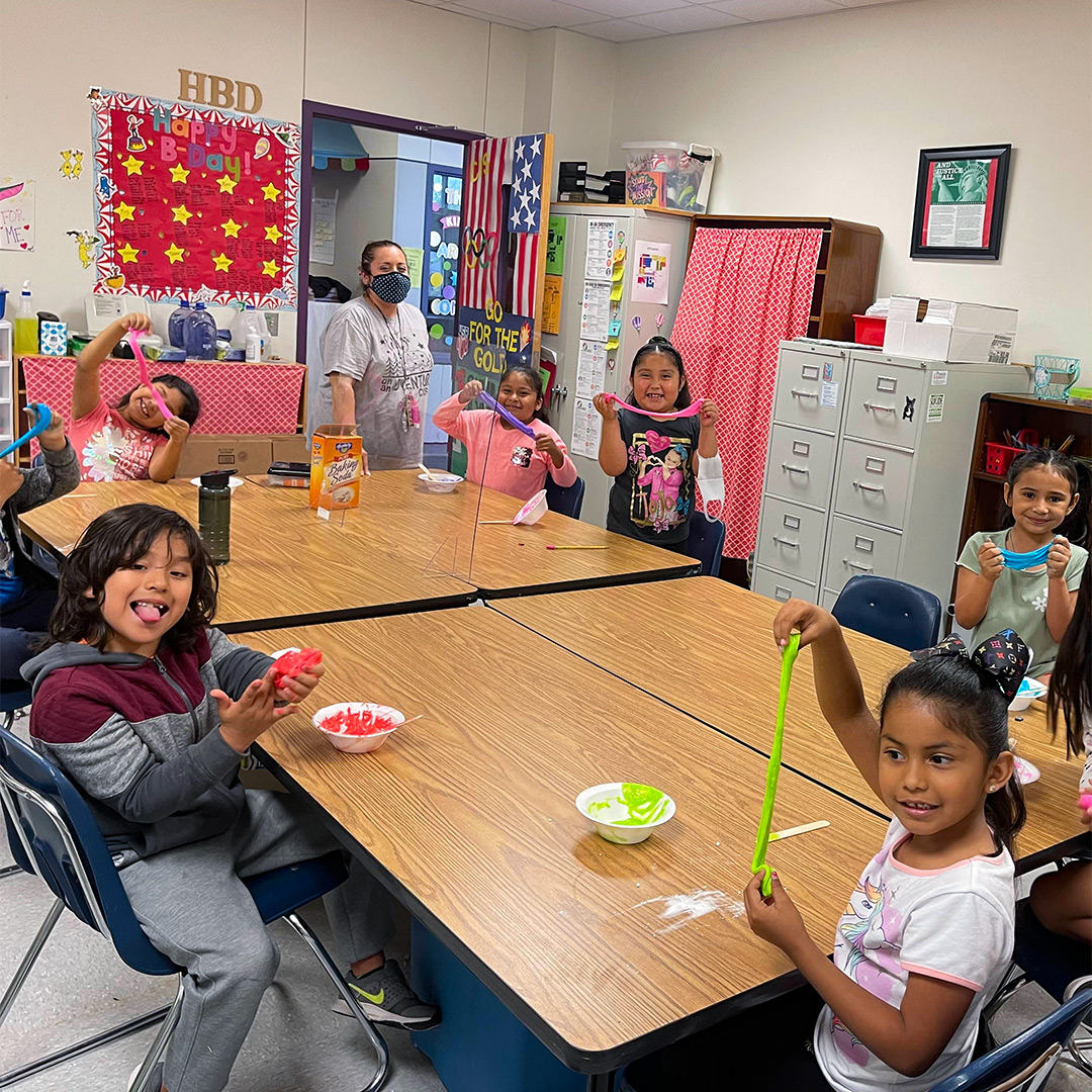 Caldwell Students Learn Science with Homemade Slime